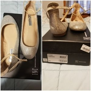 Sparkling Ballerina shoes champagne color